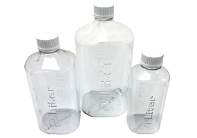 Clear Boston Square Bottles