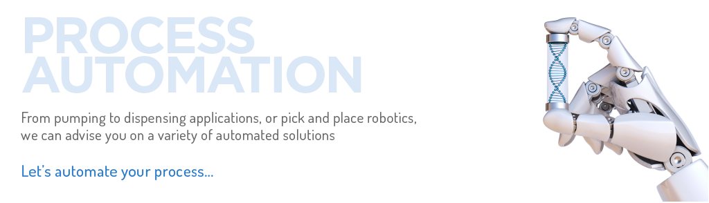 From pumping to dispensing applications, or pick and place robotics, we can advise you on a variety of automated solutions